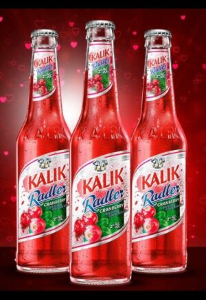 Kalik Cranberry Radler bottles case